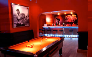 Pool Table & Bar at the Escape Surf Lodge Newquay
